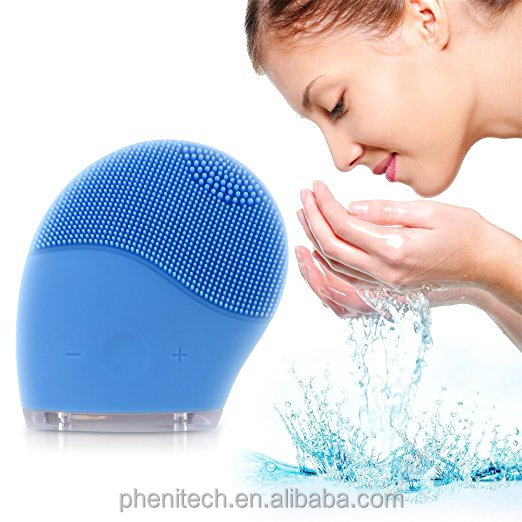 Facial Cleansing Brush and Face Massager,New Ultrasonic Silicone Facial Cleansing System for Face Clear Polish and Scrub