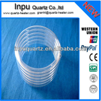 Spiral quartz tube and helix quartz tubing and quartz coils