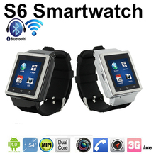 Newest Capacitive Touch Screen Dual Core 1.2GHz 4GB 3G WCDMA Android Smart Watch With Sim