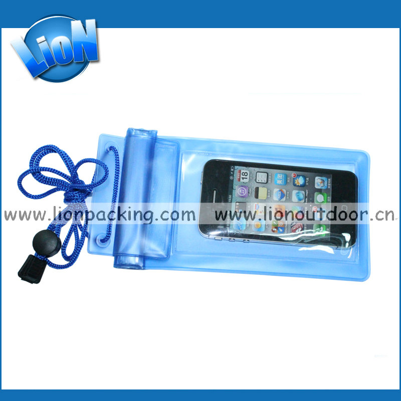 Blue Waterproof Dry Pouch Bag Pack Case Cover For Mobile Cell Phone