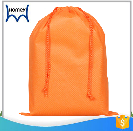 Easy travel washable cloth duffle packaging non woven drawstring shoe bag