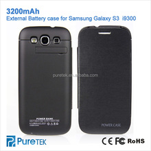 High Capacity Portable Battery Power Pack 3200mAh Backup Power Bank Charger Case For Samsung Galaxy S3 i9300