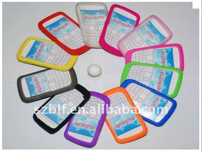 Colorful protective silicone case for blackberry 9300