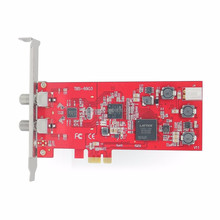 TBS6903 DVB-S2 Dual TV Tuner PCIe Card With Gecen GD-41C 4 x 1 Satellite DiSEqC Switch for FTA DVB-S2 Receivers