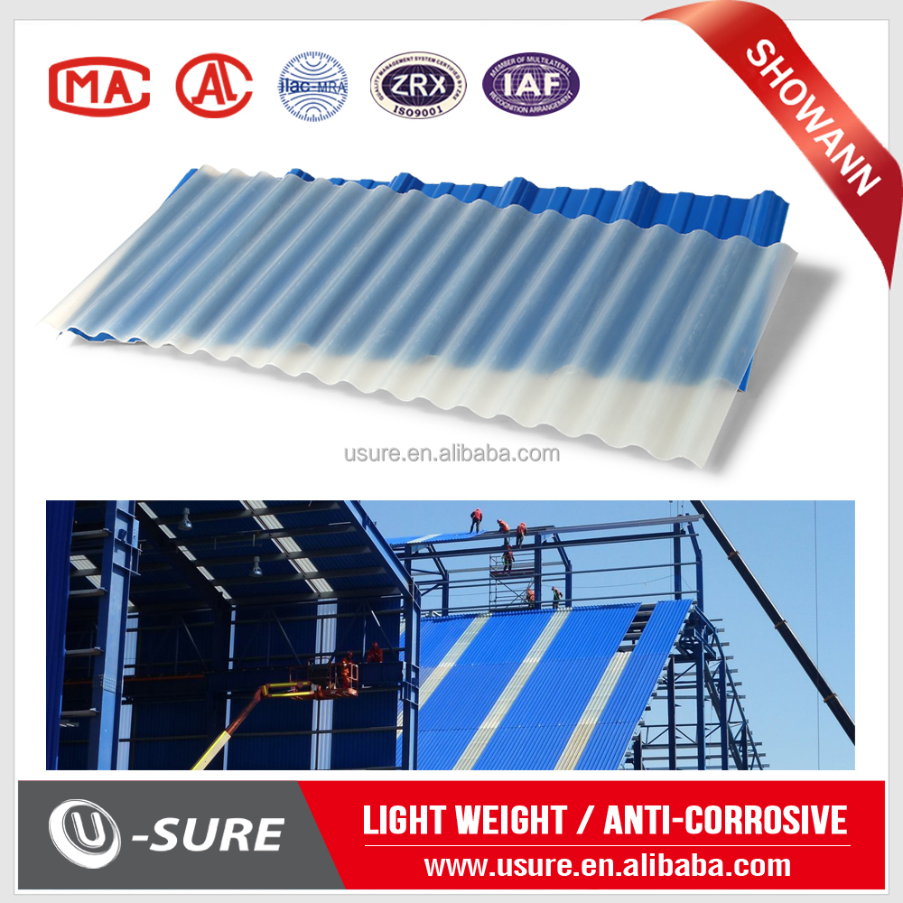 Thin film flexible roofing panel / clear plastic roofing sheet / house design tile span roofing