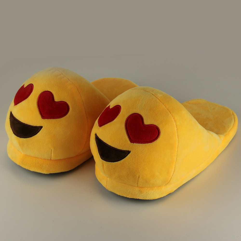 Emoji <strong>Slippers</strong> For Women Indoor Shoes Cotton Plush <strong>Slipper</strong> Emoji Shoes Warm Chaussons Female Winter <strong>Slippers</strong> Home