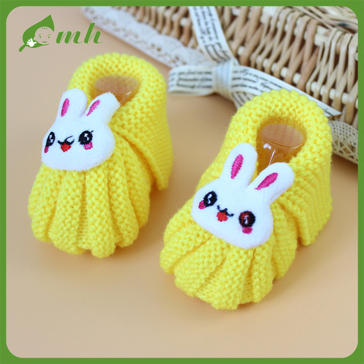 2016 mh Funny kids crochet winter ware shoes boot