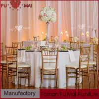 Low price event furniture aluminum or iron material rental bamboo chair