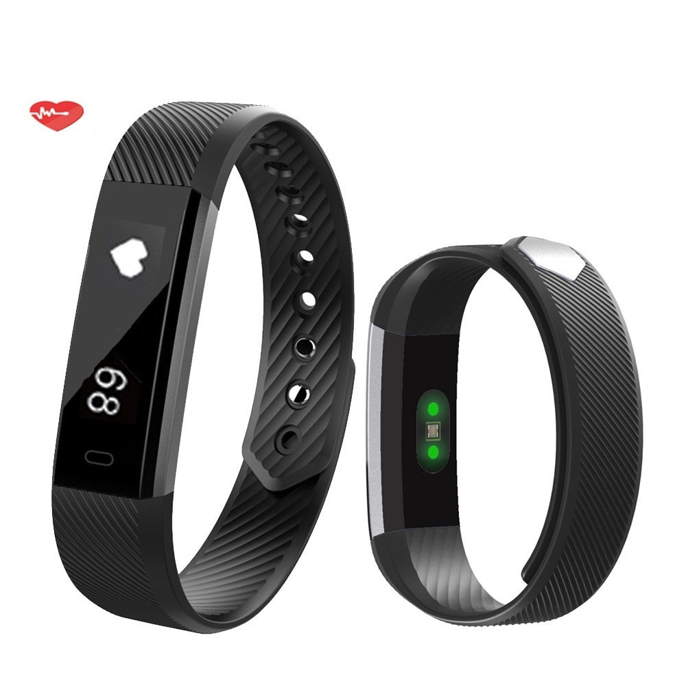 ID115 waterproof fitness tracker smart bracelet dayday band manual watch phone heart rate health sleep monitor with touch screen