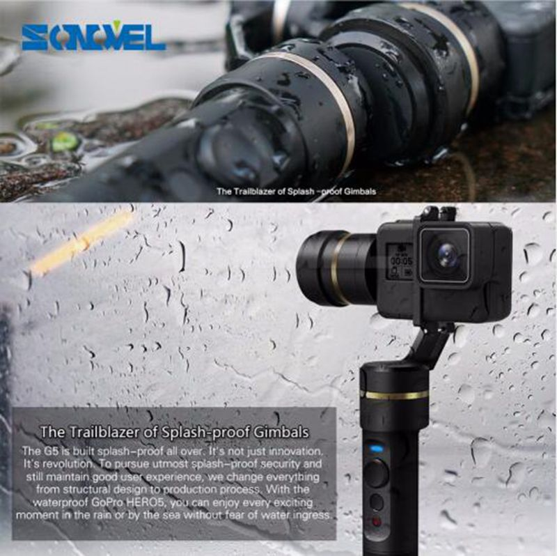 New Released Waterproof Stabilizer Feiyu G5 3-Axis Brushless Handheld Camera Gimbal Steadycam For Go pro5 4