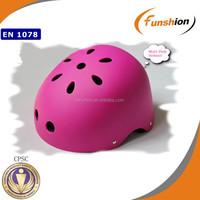 Nice design skate and snow sports helmet with CPSC certificate-matt pink helmet