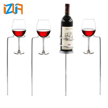 Wholesale High quality Decorative metal iron wire wine bottle holder rack