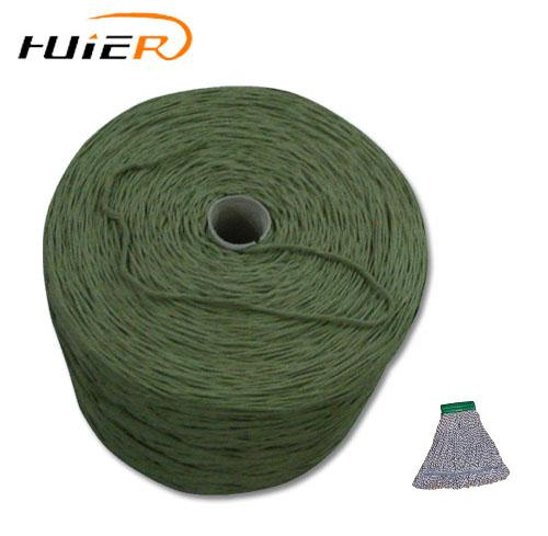 ne6 open end recycled cotton yarn blended polyester for weaving mop