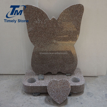 Natural stone butterfly shape tombstone