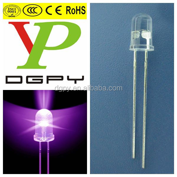 5mm white light emitting diode with white color diffused len