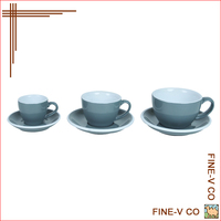 Ceramic Coffee Cups&Saucers ACF Style