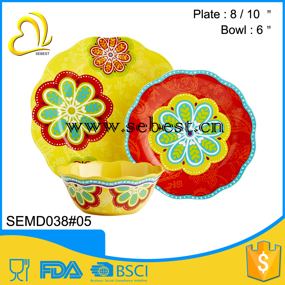 wholesale price used restaurant reusable plastic melamine dinnerware