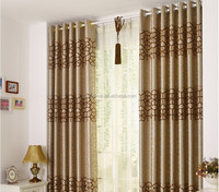 jacquard fabric cationic kitchen curtain