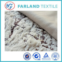 Single PV white discharge printing of polyester fabric velvet 100% Changshu factory direct sales can be customized.
