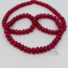 Ruby Smooth Roundel Stone Beads Strand, Natural Wholesale Beads, Natural Precious & Semi Precious Color Gemstone from Jaip