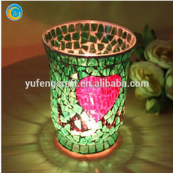 mosaic glass candle holder mexico tealight candle holder glassware home goods