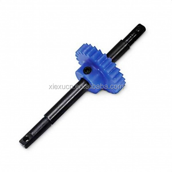 Plastic gear and shaft for hobby
