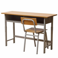 Cheap double school desk and chair