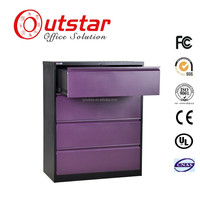 Made in China fashion cheap mental lateral drawer cabinet with 4 drawers
