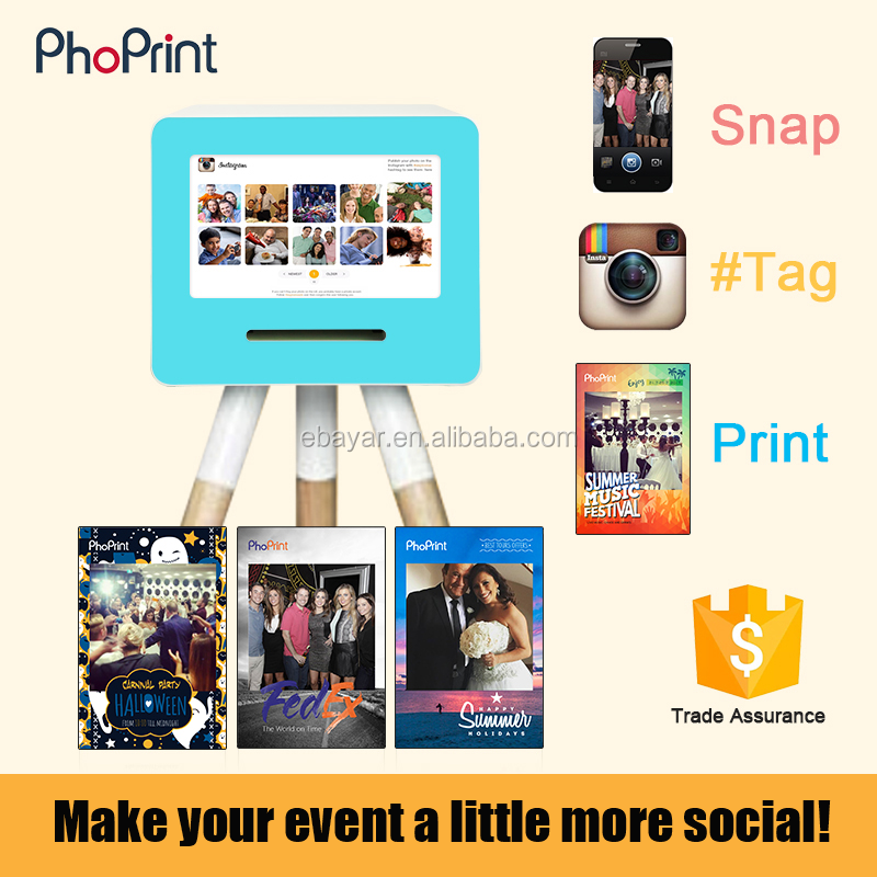 Online Advertising and Instant Mobile Photo Printing Services Kiosk Station