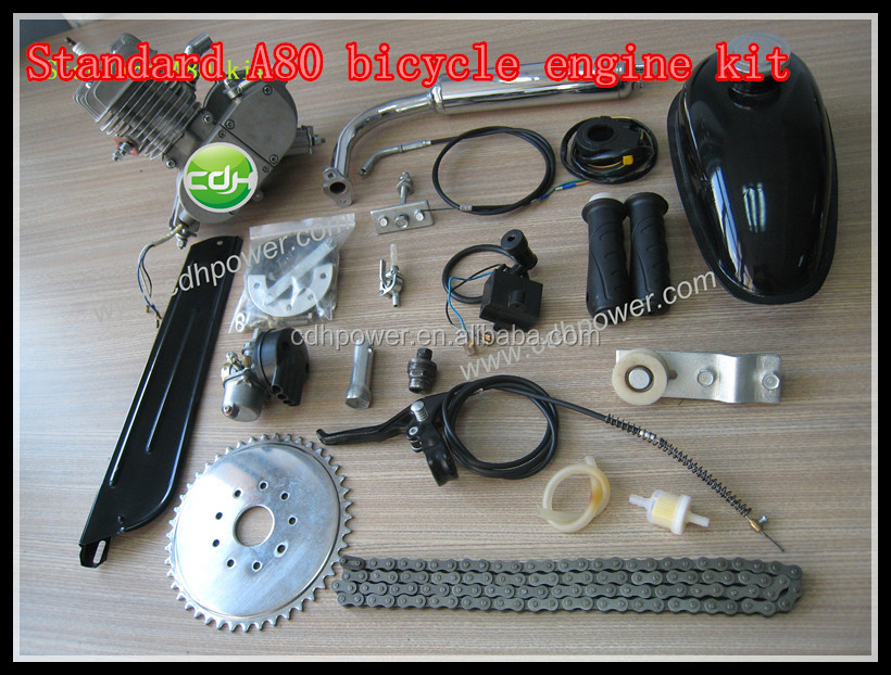 2 stroke motor/bicycle engine kit/80cc bicycle engine kit
