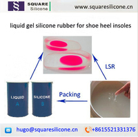Injection silicon rubber for heel cushions, Injection silicon rubber for shoe insoles making