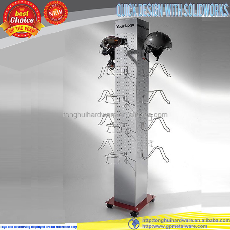 hot sale metal motorcycle helmet display stand