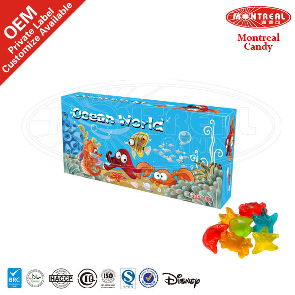 Funny box gummy candy halal sweets and candy