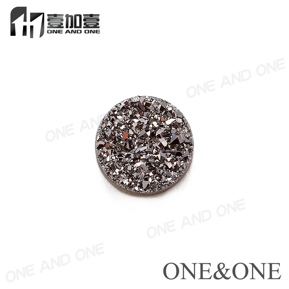 2018 Druzy Cabochons 100% Natural Druzy Stone Drusy Bead Round Shape Silver Colour Wholesale price