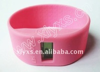 Mini Colored Rubber Bands / Pink Silicone Watche