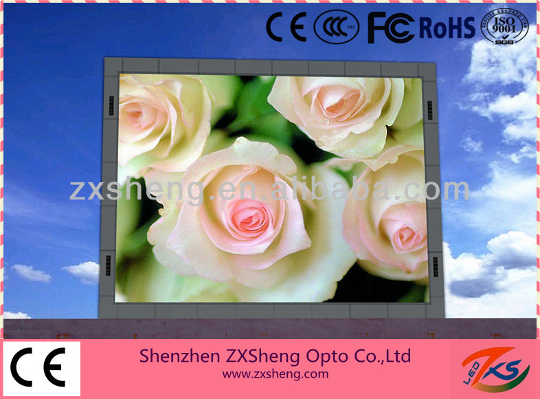 High brightness/ forever waterproof/ clearly picture choose ZXSheng outdoor p16 full color led display board
