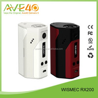 Wismec New Released Vaporizer Dry Herb Box Mod Wismec reuleaux RX200 TC Box Mod wismec vape mods