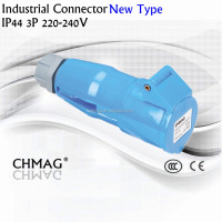 new type Industrial connector .32A 3P IP44 2231 2P+T plug socket 3pin 16A 2131 IECCEE best price portable male female