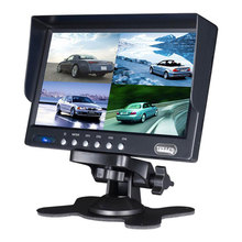 7 inch cctv tft lcd monitor for webcam system 4 quad