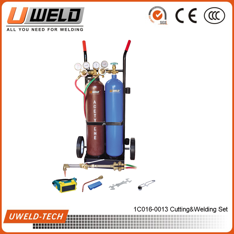 Heavy Duty Outfit Gas Welding Equipment with cylinder Cutting Welding Set
