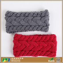 Women Ear Warmer Crochet Flower Knitted Headband Headwrap