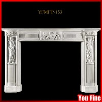 Indoor Used Marble Decorative Fireplace Mantels Marble Fireplace