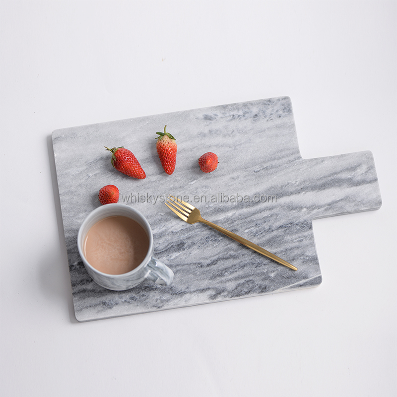 Factory price marble plate , 100% natural marble dinner plate , marble tray Christmas gift
