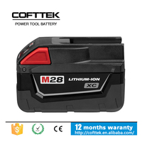 One-year warranty Rechargeable Electric Tools 28v Lithium-ion Milwaukee Battery pack