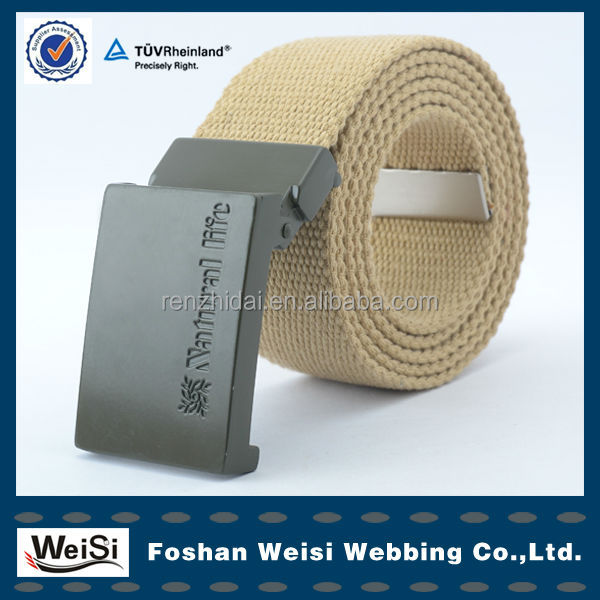 Fashion steel buckle polyester cotton woven waist leisure canvas belts