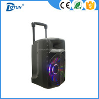 2016 guangzhou speaker big battery speaker box with wiresless mic