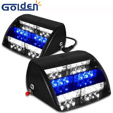 High Power 18LED Car Emergency Automobiles Police Strobe Flashing Waterproof 12 volt led dash warning lights with Blue and White