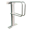 Floor Mounted Single Tier Stainless Steel Bike Rack