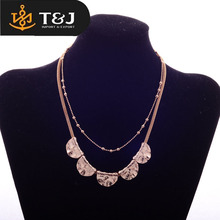 professional factory price selling gold alloy metal wedding peacock for women fashion necklace