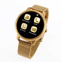 Luxury Fashion Metal stainless round screen Bluetooth Smart Watch D360 V360 Sport wristwatch for IOS Android mobile phone